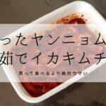 職のない主婦の日常。53 白菜キムチ用のヤンニョムが余っていたので、イカキムチを作る。