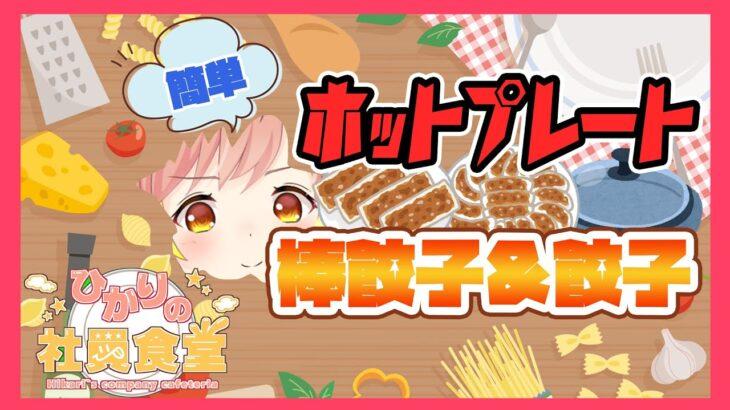 【料理】ホットプレートで簡単料理!レシピあり!!【飛良ひかり / あにまーれ】