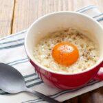 【レンジで簡単マグカップレシピ】カルボナーラリゾットの作り方