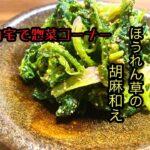 【無限に食える!!】栄養満点!ほうれん草の胡麻和え/ほうれん草レシピ