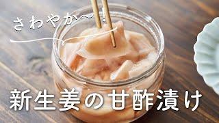 【さわやか〜!常備したい!】新生姜甘酢漬けのレシピ・作り方