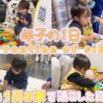 【ルーティン】 年子兄弟の1日 ママとお家で過ごした日 2歳6ヶ月と1歳3ヶ月 Daily routine of siblings お家遊び お家時間