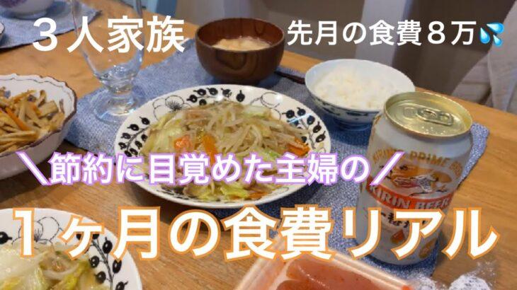 【1ヶ月の食費】節約に目覚めた主婦が1ヶ月の食費を淡々と記録した動画 / 月8万円かかっていた食費を下げたい【3人家族】