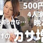 【節約晩ごはん】アラフォー主婦が見切り品500円で作る4人家族の晩ごはん