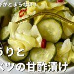 和食レシピのお供におすすめ!シャキシャキがとまらない!簡単きゅうりとキャベツの甘酢漬けの作り方