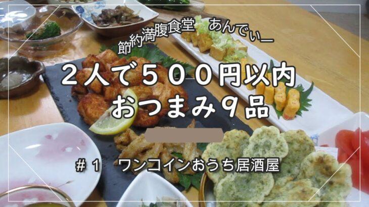 【時短・簡単・節約料理】おうち居酒屋 2人で500円以内!簡単おつまみ 全9品 料理下手にもできる節約に見せない食卓