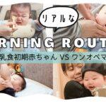 【モーニングルーティン】生後5ヶ月赤ちゃんvsワンオペ育児ママのリアルな朝【離乳食初期】