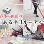 【平日ルーティン】30代主婦/小学生ママ/春休み直前