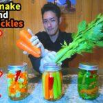 【常備菜】セロリと人参のピクルスの作り方【簡単料理レシピ】How to make celery and carrot pickles
