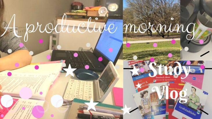 【Study Vlog】1人時間がない/子持ち主婦はいつ勉強する?/ A Mom's morning routine /日本人のドイツ暮らし/How I study/子育てママ
