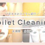 【トイレ掃除/収納】毎日の掃除ルーティン/オススメのアイテム紹介/ダイソー/キャンドゥ
