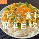 簡単手抜き自炊料理『ねぎもやしナムル丼』の作り方【レシピ】