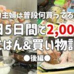 【食費月2万】平日5日間で2000円の節約晩ごはん&買い物記録|後編【2人暮らし】