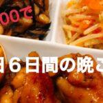 【節約晩ご飯】買い物から献立 主婦の日常 平日6日間の晩ご飯 1日¥866–で出来ました