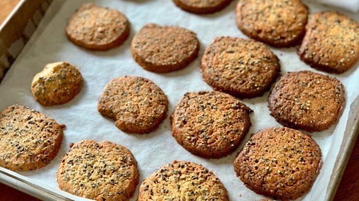 Sesame Cookies ☆ 黒ごまクッキーの作り方♪初心者さん向け料理レシピ動画【cooking】簡単便利な作り置き