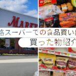 [海外節約主婦]週1の食品ショッピング/買った物紹介