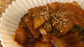 ちょー簡単韓国料理!チェユッポックン🥓