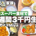 1週間3000円で栄養満点晩ご飯/業務スーパー食材/低収入五人家族/月食費3.5万円節約生活 後編