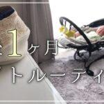 【ナイトルーティン】生後1ヵ月赤ちゃんとママのnight routine〜3児ママの夜