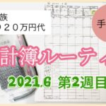 【家計管理】節約主婦の手書き家計簿ルーティン 2021,6