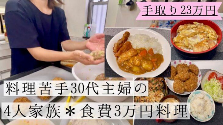 手取り23万円 4人家族食費3万円の料理 料理苦手主婦 料理動画 5歳の息子にマネー教育始めました