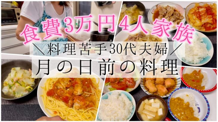 食費3万円4人家族 料理苦手30代主婦 生理前のご飯  酸っぱい系おかずが多くなりがち バズり飯 レタスぺぺ飯 生理前の食欲 料理動画