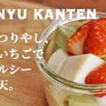 【ひな祭り料理レシピ】抹茶といちごの牛乳寒天(みるく寒天)の作り方【簡単デザート】