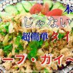 【超簡単タイ料理ラープガイ】本格的じゃない方のタイ料理レシピ/料理上手でもない私が作れるタイ料理