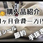 【1ヶ月食費一万円】まとめ買い/値引きシール/節約/買い物ルーティン