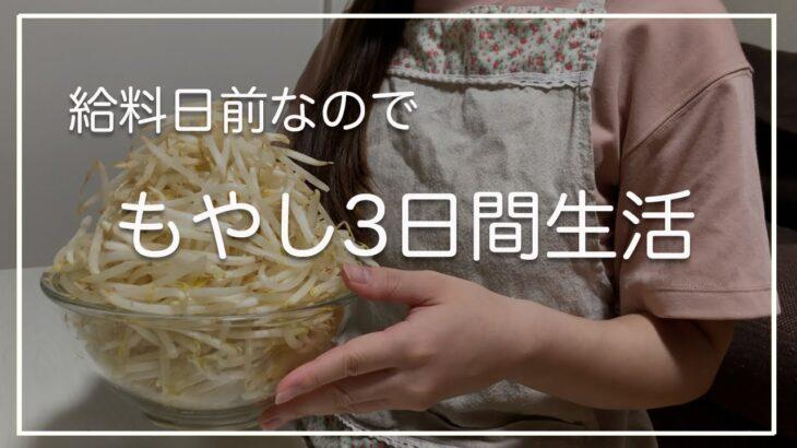 【給料日前3日間】もやしで乗り切る節約晩ご飯/食費2.5万円/節約生活【二人暮らし】