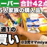 節約のため業務スーパーで爆買いする低収入家族/夏休み前の7月購入品