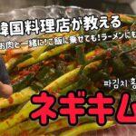 韓国料理店が教える!ネギキムチレシピ(パキムチレシピ)파김치 레시피!