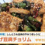 【韓国料理レシピ】揚げ豆腐チョリム(두부조림)の作り方 ご飯が進む トゥブチョリム 旨辛豆腐料理
