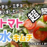 超簡単!ロゼトマト水キムチレシピ(オリジナルレシピ)汁はホンチョ・ミチョ使いました