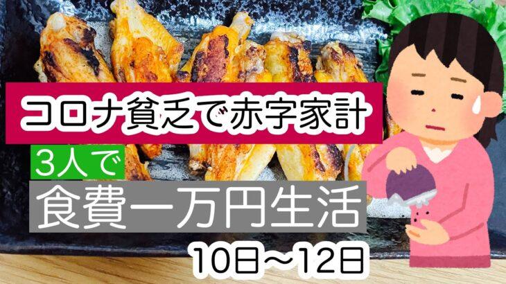 【3人で食費1万円】貧乏ご飯/節約生活/旦那が陣痛が起きずに出産してたと思ってた話