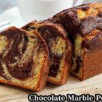 チョコレートマーブルパウンドケーキの作り方☆ホットケーキミックスと板チョコで簡単に作れます☆-How to make Chocolate marble pound cake【料理研究家ゆかり】